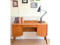 Stylish Vintage Danish style teak desk / dressing table. Delivery. Modern / Mid century style.