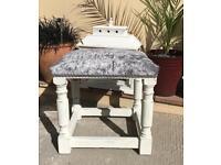 Upcycled vintage oak stool