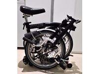 M3R Brompton Folding Bike 3 Speed, Luggage Rack, Schwalbe Marathon Tyres