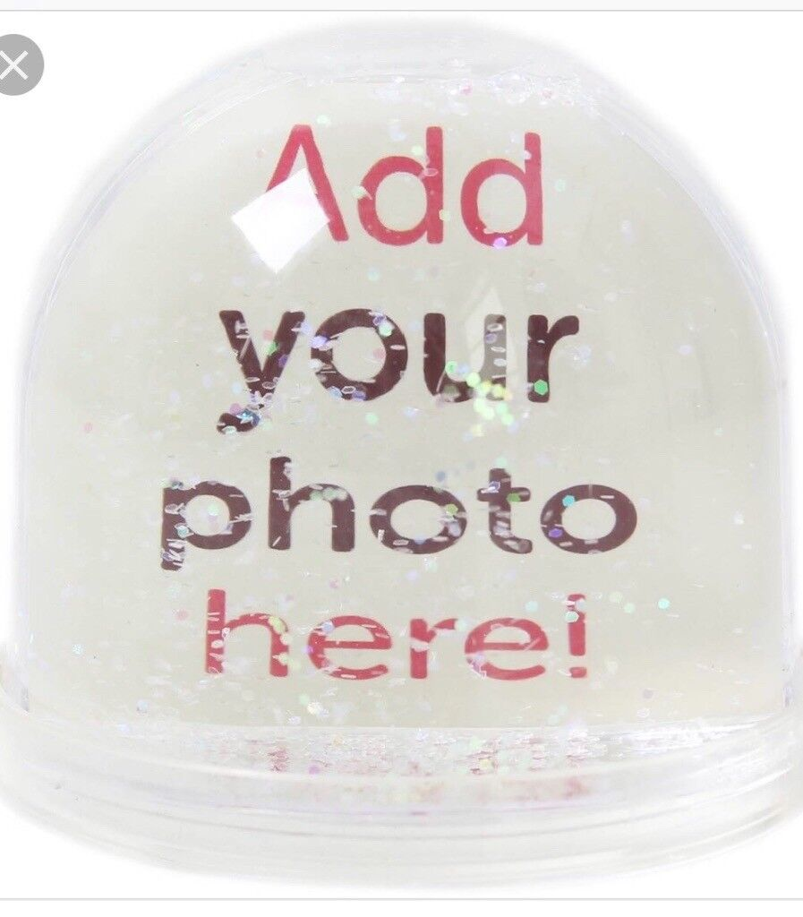 Snow Globe Double Sided Can Put Two Of Your Own Pictures In In
