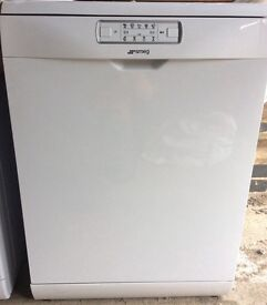 New White Smeg Dishwasher DFD613W RRP £399 5 years Manufacturers Warranty