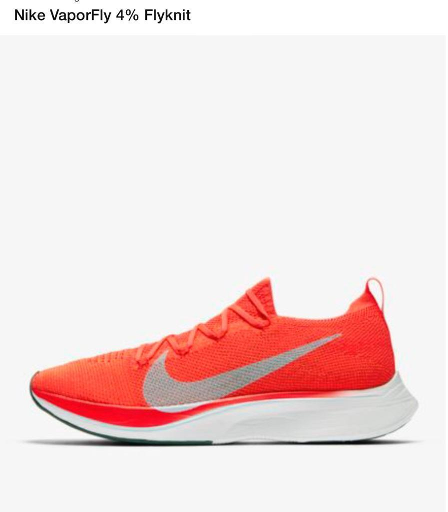 f53232f3850d0 NIKE ZOOM VAPORFLY 4% FLYKNIT BRIGHT CRIMSON TRAINERS UK 8.5 soldout