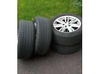 4x Ford Kuga / Jaguar XF alloy wheels with tyres and nuts alloys