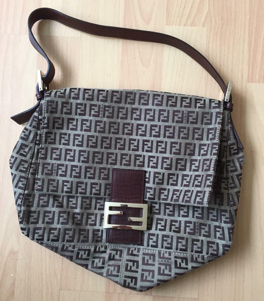 Genuine Fendi Mama Baguette Handbag