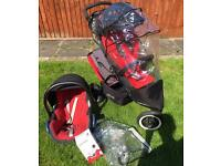 Phil and Teds Double Pushchair with Maxi Cosi