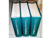 V8NTAGE COLLECTION OF FISHERMAN HAND BOOKS.