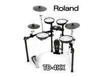 ROLAND V DRUMS TD-4KX electronic drum kit with bass drum pedal - FULL MESH
