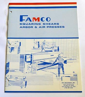 Famco L-1010 Squaring Shears Arbor And Air Presses Brochure