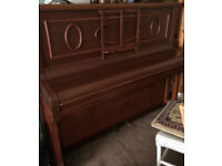 Free upright piano, metal frame/overstrung/c1930s - collection Stamford Bridge, York