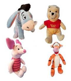 Winnie the pooh tigger piglet eeyore plush set babies kids