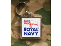 ROYAL NAVY RN KEYRING OFFICIAL MOD MERCHANDISE BRAND NEW MARINES RM KEY RING FREE P&P FLAG MTP SBS