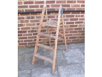 Vintage Paint Splattered wooden ladder.