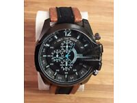 """DIESEL """"ONLY THE BRAVE"""" NEW MENS CHUNKY WATCH"""