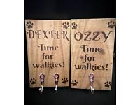 Personalised dog lead holders and more