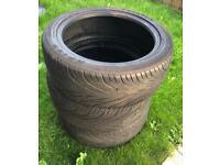 3x 215 45 17 fulrun tyres good tread