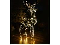 Christmas Wire Reindeer Light - Warm White