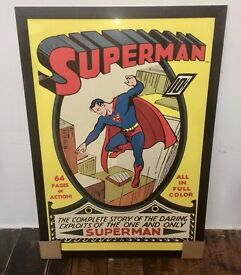SPIDERMAN SUPERMAN THOR - large Framed Print Picture - £75 EACH