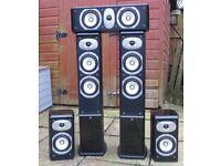 Set of 5 Roth Oli home cinema/Hi Fi speakers