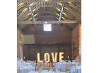 Stunning 5FT light up LOVE letters for Norfolk / Suffolk WEDDING HIRE - just £150