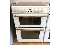 BELLING, White, 60cm Ceramic, Digital, FAN ELECTRIC COOKER + 3 Month Guarantee + FREE LOCAL DELIVERY