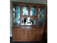 Large Wood & Glass Display Cabinet for sale