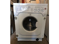 INDESIT IWDE126 Integrator Washer & Dryer Fully Working with 4 Month Warranty