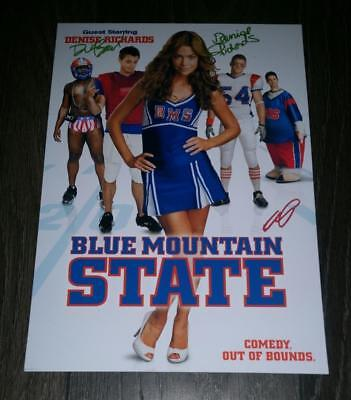 """BLUE MOUNTAIN STATE CAST X3 PP SIGNED POSTER 12""""X8"""" DENISE RICHARDS DARIN S2"""