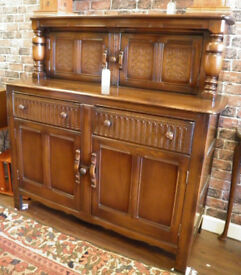 STUNNING ANTIQUE OAK 'ERCOL' COURT CUPBOARD - WE CAN DELIVER