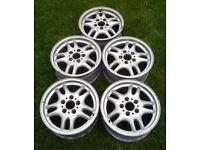 "x5 OEM BMW Style 30 16""x7J 5x120 Alloy Wheels Ideal for Drift / Skid Car E36 E46 Z3 etc..."