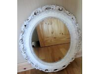 Shabby Chic Look Oval Mirror.