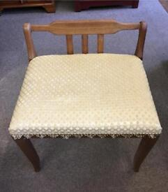 Teak framed dressing stool
