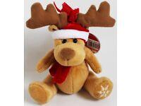 "Brand New 5"" Reindeer Soft Toy By Koochie"