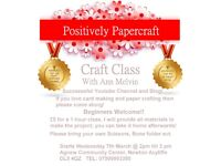 Card Making & Papercraft Classes With Ann Melvin-Positively Papercraft.