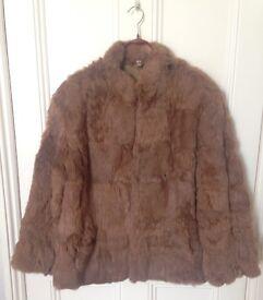 Vintage fur coat (100% rabbit fur) size 10-12