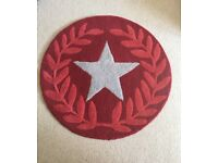 Next Red 100%Wool Rug Star Pattern
