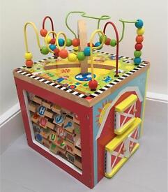 5 in 1 Wooden Play Cube