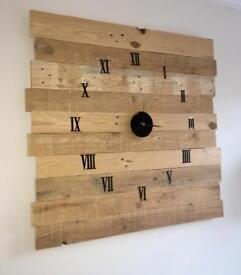 Rustic Wall Clock - Made to Order
