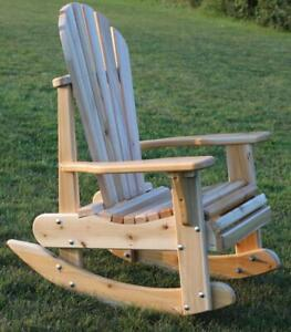 Heavy duty cedar rocking patio chairs - FREE SHIPPING