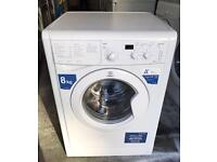 8KG A Class INDESIT IWD61450 Free Standing Washing Machine Good Condition & Fully Working Order