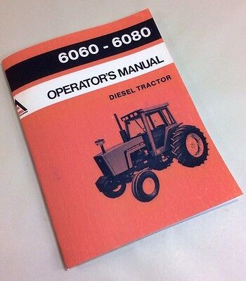 Allis Chalmers 6060 6080 Operators Owners Manual Diesel Tractor Maintenance