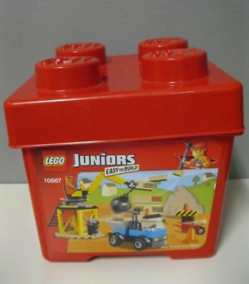 EMPTY 2012 LEGO 10667 Juniors Construction Container Tub Storage Bucket With Lid](Construction Containers)