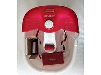 Revlon Relaxing Bubbling Massage Pediprep Foot Spa Bath with Pedicure Set - as new
