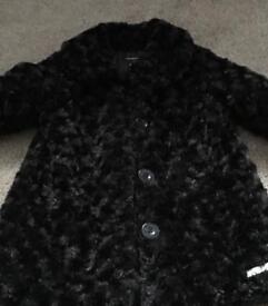 Girls black Calvin Klein coat