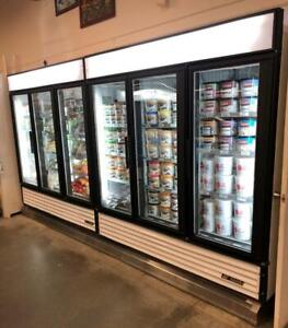 True GDM-72 Three Glass Door Commercial Cooler Refrigerator