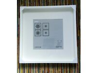 Two white IKEA picture frames ribba 50x50cm and malilla 50x70cm