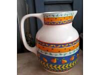 Furio large pitcher jug pears blue Orange yellow white