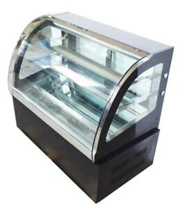 220V Countertop Refrigerated Cake Showcase Commercial Diamond Glass Display Case 210075