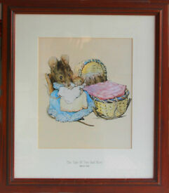 BEATRIX POTTER PRINT 'THE TALE OF TWO BAD MICE""