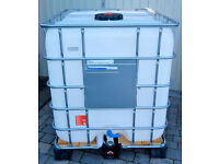 1000 LITRE IBC CONTAINER NEW NEVER USED. x2