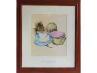 """BEATRIX POTTER PRINT - """"The Tail of Two bad mice"""""""